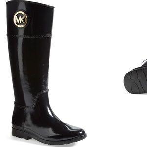 Michael Kors Stochard Rubber Rain Boots Size 7